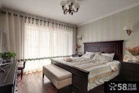 美式乡村风格室内卧室图片