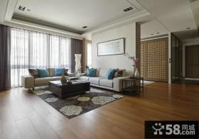 现代混搭风格沙发背景墙