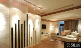 现代风格两室两厅客厅电视背景墙装修效果图片大全