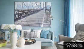 宜家客厅背景墙装饰画图片