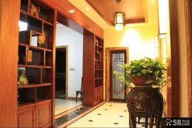 中式风格室内玄关博古架装修