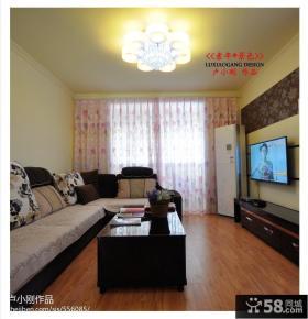 客厅电视墙装饰效果图欣赏
