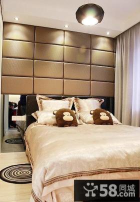 简约主卧室床头软包背景墙