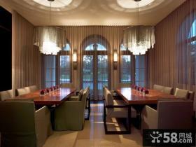 欧式装修设计效果图餐厅图片