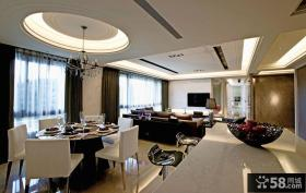 现代风格室内餐厅吊顶图片大全