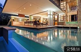 豪华别墅外观游泳池设计