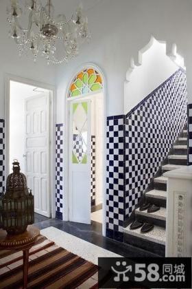 摩洛哥楼梯玄关装饰效果图