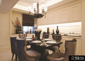 美式风格餐厅家具效果图片