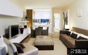 家庭客厅电视背景墙设计效果图