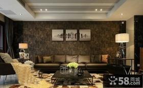 现代创意风格客厅沙发背景墙效果图欣赏大全