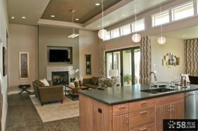 2012美式风格室内客厅装饰装修效果图