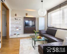 现代风格小户型客厅电视墙造型