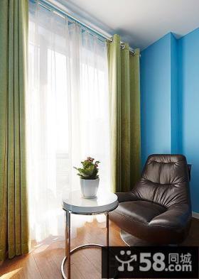 家庭设计小阳台窗帘图片