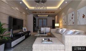 现代小客厅电视背景墙装修效果图欣赏