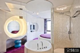 主卧卫生间瓷砖效果图