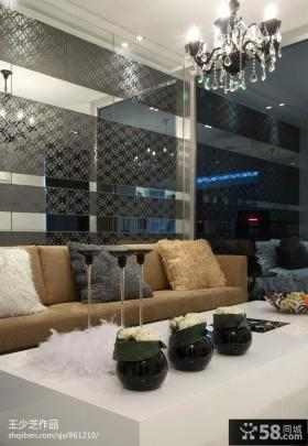 现代风格沙发背景墙效果图欣赏