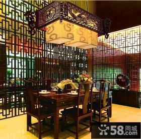 餐厅中式大吊灯图片