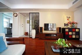 优质中式客厅电视背景墙效果图大全