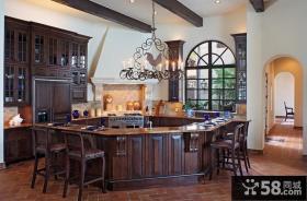 三室两厅美式风格厨房吊顶装修效果图大全2012图片