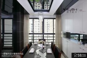 现代简约餐厅吊顶装修风格