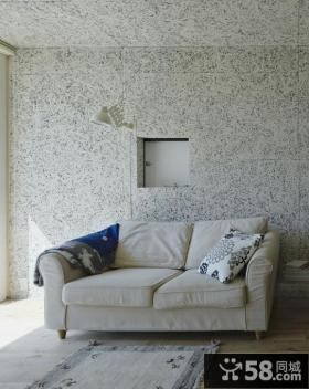 大理石背景墙客厅休闲沙发图片