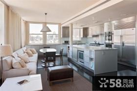 北欧清新的复式楼厨房橱柜打造一个温馨的家