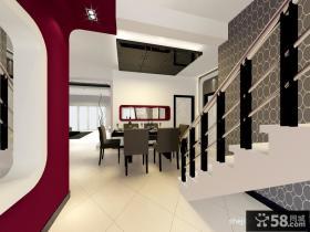 现代风格复式楼餐厅装修效果图 餐厅吊顶效果图