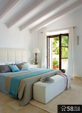 田园般的美式乡村风格装修卧室图片