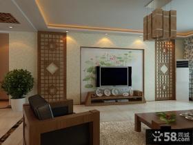 客厅电视背景墙墙绘装修图片