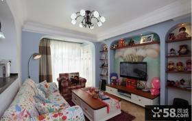 小户型客厅电视背景墙家具装饰墙纸