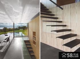 现代别墅楼梯设计效果图欣赏
