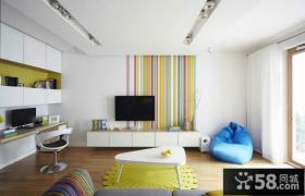 现代简约客厅电视背景墙壁纸效果图片