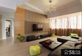 现代简约设计风格复式家装效果图片