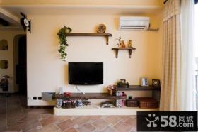 小客厅电视机背景墙装修效果大全2012图片