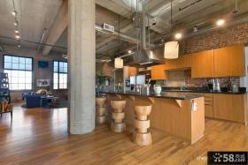 2013家装开放式厨房设计效果图