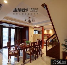 中式复式楼餐厅吊顶效果图