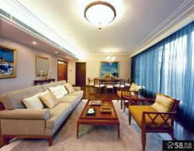 日式家装复式客厅不吊顶设计效果图