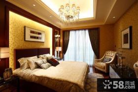 新古典风格12平米卧室吊顶装修图片