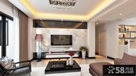 家装设计室内时尚客厅电视背景墙效果图