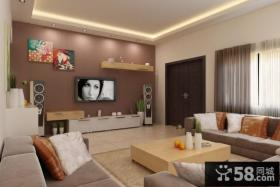 现代简约风格客厅电视背景墙设计效果图片