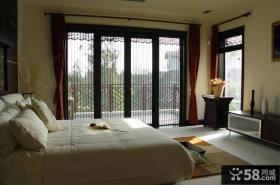现代中式豪华别墅卧室设计效果图