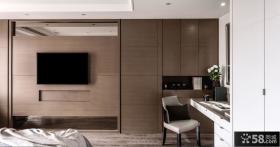 中式现代风格电视背景墙设计
