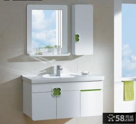 现代简约风格整体浴室柜效果图