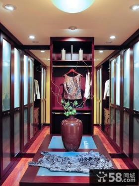 衣帽间装修衣柜玻璃门图片