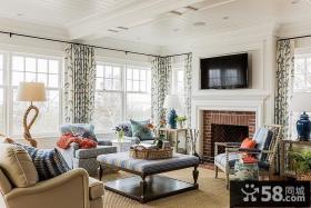 北欧风格复式楼客厅效果图欣赏大全2014图片