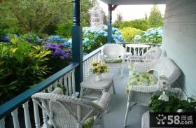 欧式阳台花园设计实景图