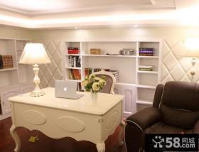 欧式风格复式书房装修效果图片