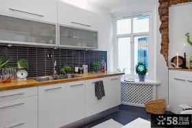 6平米家庭厨房白色橱柜效果图