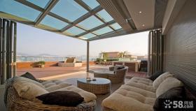 别墅顶层玻璃阳光房图片