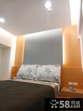 简约现代小卧室床头背景墙